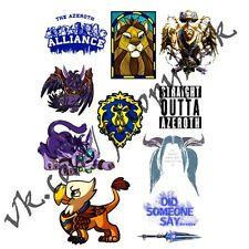 WoW World of Warcraft Alliance A5 stickers set decals