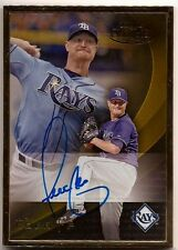 2016 Topps Gold Label ALEX COBB Gold Framed On Card Auto RAYS