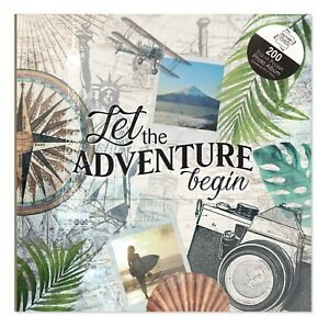 """Let The Adventure Begin Holiday Photo Album Holds 200 4"""" x 6"""" Photographs 7550"""