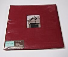 Marcella by K 12 x 12 Red linen window album 10 white sheets/page protectors