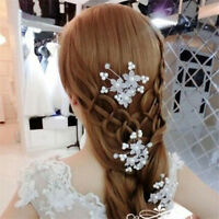 3pcs Ladies Bridal Pearl Flower Crystal Hairpin Hair Pins Clip Wedding Accessory