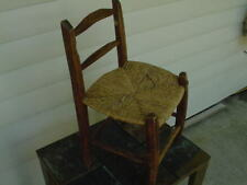 Vintage Child's Chair Hand Carved Wicker seat