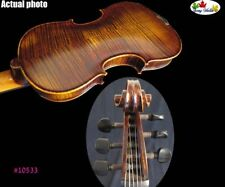 Hand made solid wood flames SONG Brand Strad style 6 strings 4/4 violin #11533