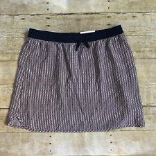 GAP Womans Navy Blue/Peach/White Patterned Beach Casual Skirt Size Medium
