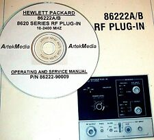 HP 86222A 86222B RF Plug-In Operating & Service  Manual (good schematics)