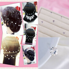 20Pcs Pretty Shiny Wedding Bride Pearl Rhinestone Hair Twists  hair plates