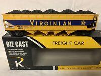 ✅K-LINE BY LIONEL DIE CAST VIRGINIAN 4 BAY COAL HOPPER CAR NEW! FOR O SCALE SET
