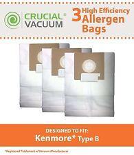 3 REPL Kenmore 24196 & 20-24196 Vac B Bags Part # 24196, 20-24196 634875 85003