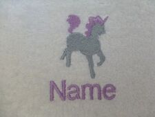 UNICORN KID design on Hooded Towels Bath Robes and PERSONALISED Gift Embroidery