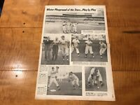 MICKEY MANTLE YOGI BERRA Newspaper Baseball NEW YORK  1962 spring Training RARE