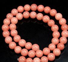8mm Pink Morganite Round Gemstone Loose Beads 15''www
