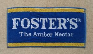 Foster's Lager Beer Bar Towel Amber Nectar Pub Home Bar Man Cave New Unused