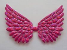100! Angel & Fairy Wings - Fuchsia Pink Holographic Wing Embellishments 7cm/2.5""
