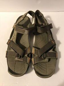 Timberland Men's Eldridge Leather Grey Sandals 5824A SIZE 12