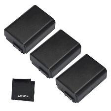 3x NP-FW50 NPFW50 Battery + BONUS for Sony Alpha SLT-A33 A37 A55