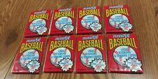 1991 Fleer Baseball Wax Pack 8 Pack Lot