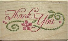 THANK YOU Rubber Stamp 480F04 All Night Media Brand NEW! flower