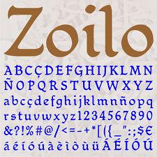 ALFABETO ZOILO LETRAS A ELEGIR 12cm MADERA DM 4mm MDF WOODEN LETTERS DECOUPAGE