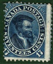 CANADA QV Stamp SG.42 17c/8d Blue CARTIER (1859) Mint MM* Cat £1,600- YELLOW168