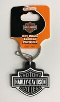 Harley-Davidson Bar & Shield Rubber Key Chain Gray NEW