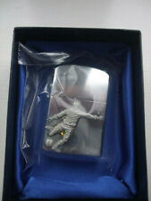 Stainless Steel lighter with footballer pewter motif new boxed