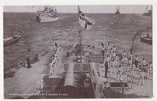 Royal Navy, Physical & Rifle Drill on A Warship at Sea Postcard, B590