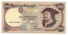 PORTUGAL 500 ESCUDOS 1966 PICK 170A AU