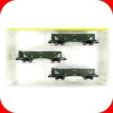 N Scale K BAY STS B Coal Hopper Car 3-Pack Set -FINE DETAIL -MINITRIX TRIX 13419