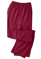 King Size Jersey Knit Cargo Pants, Red Wine, XLT, NWT