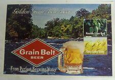 Vintage 1976 ~ 8 Golden Grain Belt Beer table plate place mat Advertising Sign