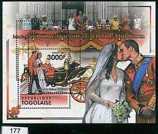 TOGO - ERROR, 2011 MISSPERF SHEET: Wedding of Prince Williams & Kate Middleton