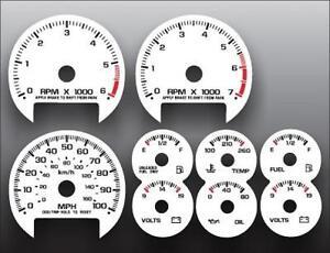 1998-2005 Chevrolet S10 TACH AUTO Dash Instrument Cluster White Gauges
