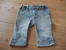 3/4 Jeans Caprihose Gr. 92 von Pampolina mit Glitzersteinen