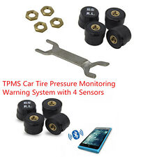 TPMS Car Tire Tyre Pressure Monitoring Warning System Waterproof with 4 Sensors