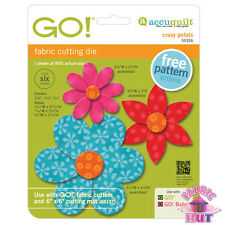 55326 -New AccuQuilt GO! Big & Baby Crazy Petals Fabric Cutting Die Flower Quilt