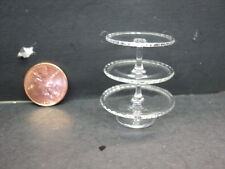 DOLLHOUSE 3-TIER GLASS CAKE STAND