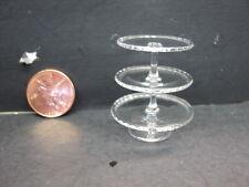 DOLLHOUSE 3-TIER GLASS CAKE STAND