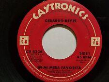 GERARDO REYES - En Mi Mesa Favorita / Consejos A Mi Hijo 1976 MARIACHI Norteno