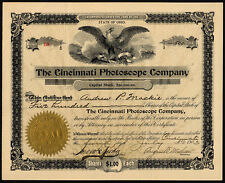 Cincinnati Photoscope Co., $1 shares, 1903, slot machines and picture viewers