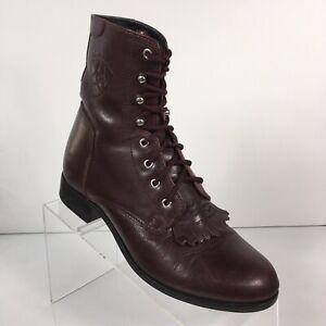 Ariat Womens 6.5 Heritage II Kiltie Ankle Boot Wine Maroon ATS Technology Granny