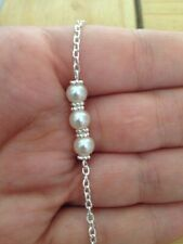 White Pearls Bridal Bracelet Wedding Bridesmaids Gift Jewellery's