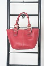 TIGNANELLO RED PEBBLED  LEATHER  TOTE BAG BAG