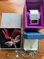 NEW 5 Bundle job lot costume jewellery bangle pendants Red Dragon Fly Gold ball