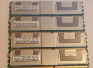 4 x SAMSUNG M395T2953EZ4-CE66 PC2-5300F-555-11-B0 1GB SERVER RAM