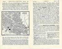 Jerez de la Frontera 1929 peq. mapa ciudad orig. + guía ingl. (4 p.) Los Cisnes
