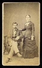 1880s CDV Portrait, Young Couple by E.P. Tompkins, Holden, Missouri