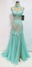 MAC DUGGAL 10057M AQUA Evening Prom Gown 8 - $598 NWT