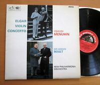 ASD 2259 ED1 Elgar Violin Concerto Yehudi Menuhin Boult NEAR MINT Semi-Circle