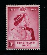 British Solomon Islands 1948 Silver Wedding High Value SG 76 MNH