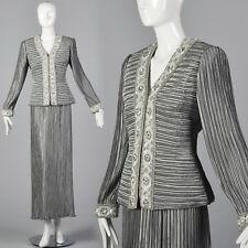 1980s Lillie Rubin Two Piece Dress Evening Cocktail Separates Designer Vintage